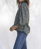 Baily long sleeve boho blouse moss ditsy