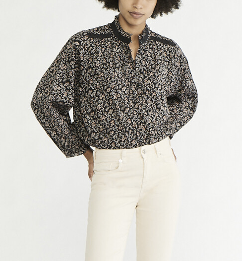 Prado shirt black floral
