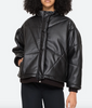 vegan quilted leather jacket