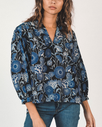 Bailey boho blouse in coastal floral