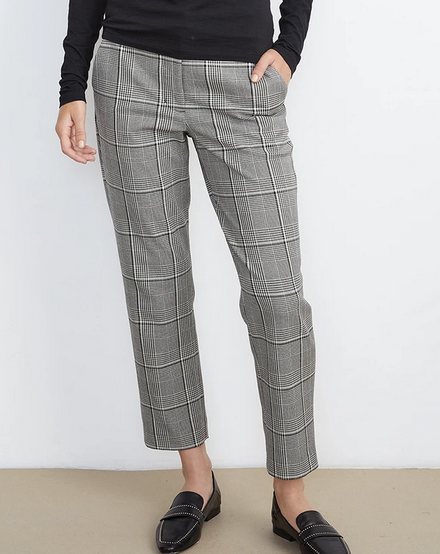 Abigail pant in black plaid