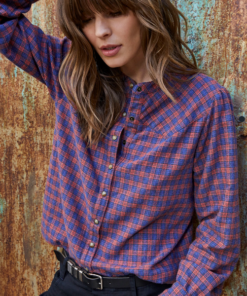 clementine navy lainey shirt