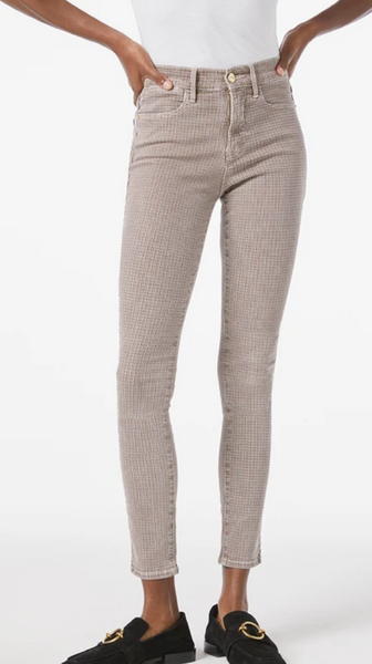 Le high skinny tawny houndstooth