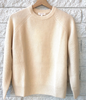 Anastasia cashmere sweater in creamy white