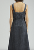 Pepper dress in washed black denim