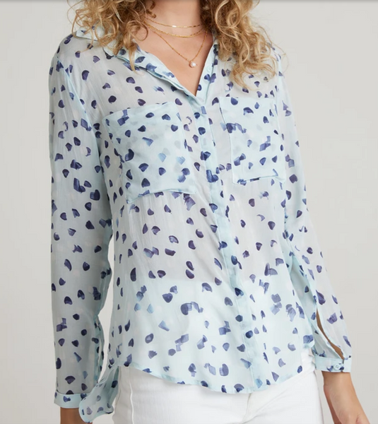 button down hipster shirt seaspray dots