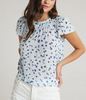 short sleeve blouse seaspray dots