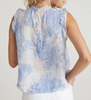 ruffle sleeve button back top galaxy tie dye
