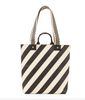 Annie black and cream striped