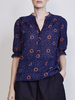 Alta roll sleeve top shibori dot