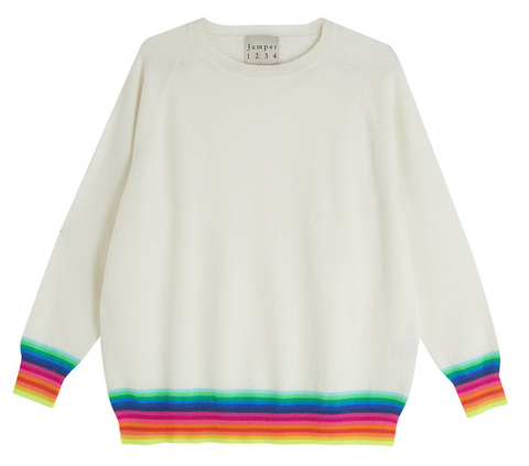 Mexican wave sweater in creamy greige