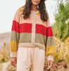 The bold striped sophomore cardigan carousel stripe
