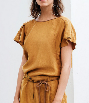 Sabyn linen tee honey