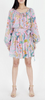 Bazaar wrap mini dress Lisbon garden wild rose