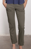 crop baby boot khaki pant military green