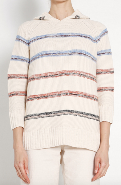 Stripe baja sweater