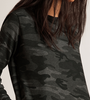 camo sweatshirt dress