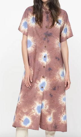 Tie dye dress brown