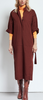 Elyce envy maroon dress with tie belt