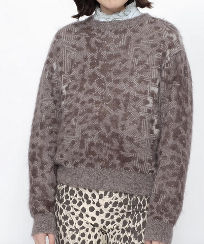 Leopard sweater natural