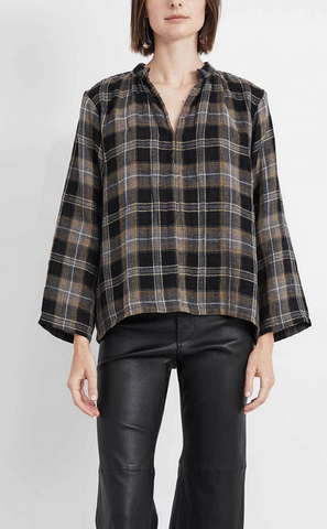 Shirred agata top lurex flannel