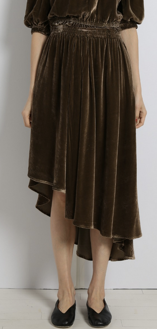 Turkana skirt moss green velvet