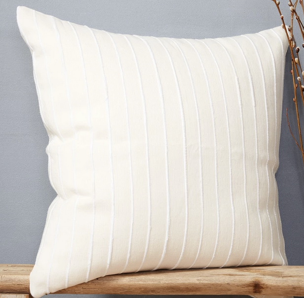 recycled stripe pillow cream, 20