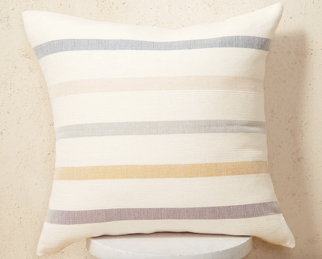 Roma stripe pillow blue yellow, 20