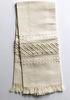 cream on cream linen embroidered towel large