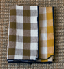 Canvas mimi vichy check napkins ochre