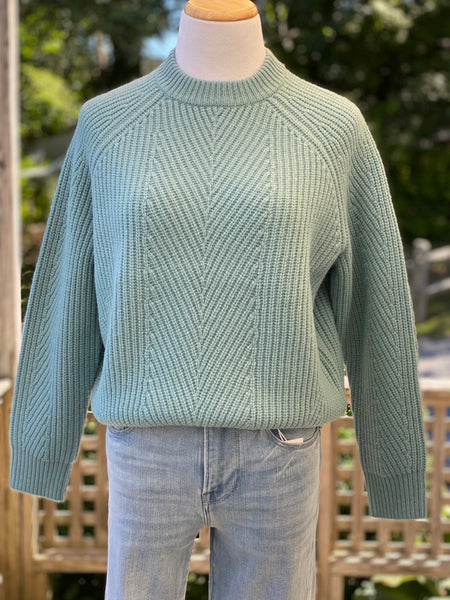 Chelsea wool sweater robins egg blue