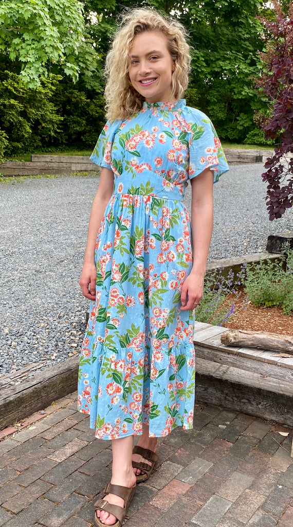 Alma dress ascot gavotte sky blue
