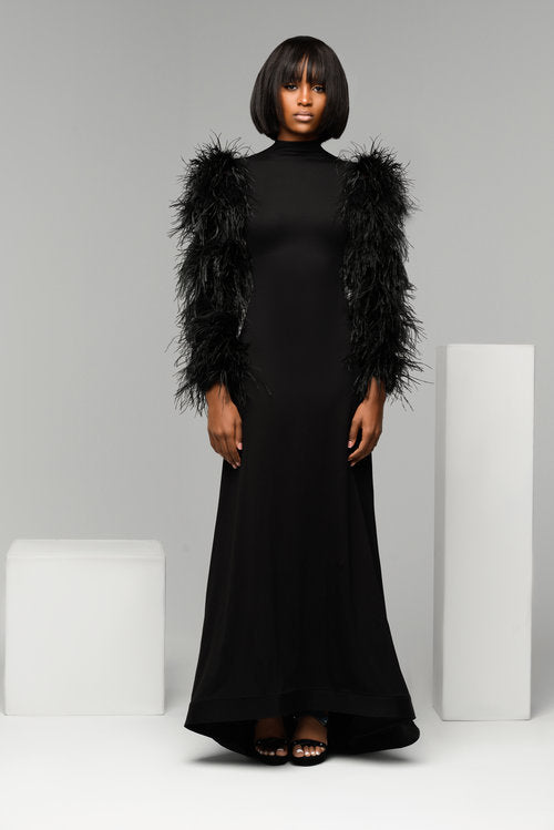 Ostrich Feather Gown