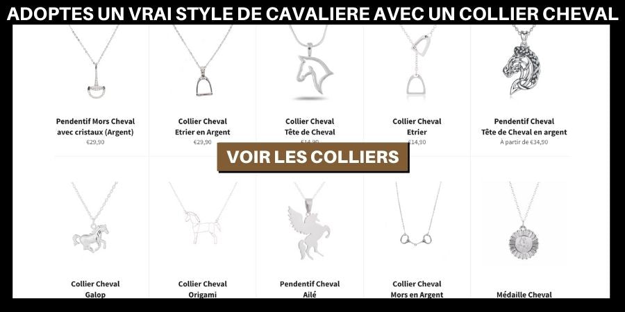Colliers pendentifs cheval
