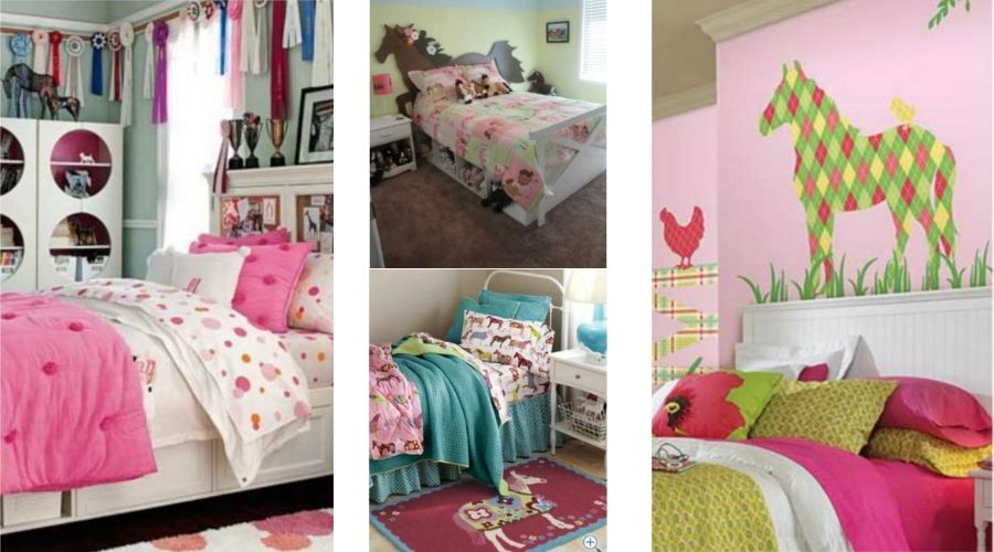 idees deco chambre fille cheval