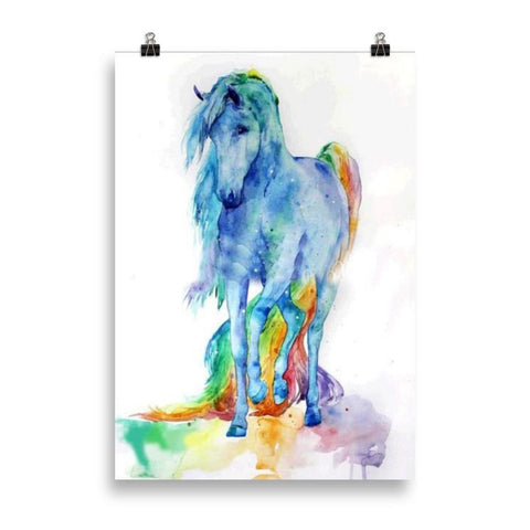 Poster cheval couleur