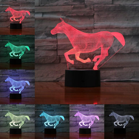 Lampe Cheval hologramme galop
