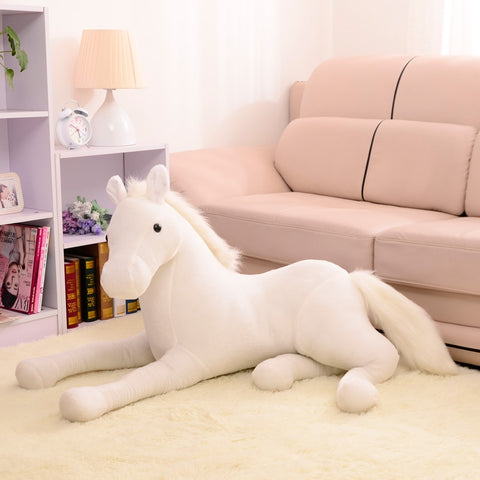 peluche-cheval-grande-taille-blanc