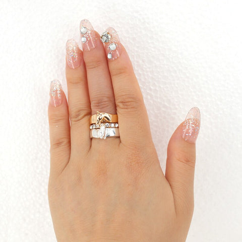 Bague Cheval <br> argent or