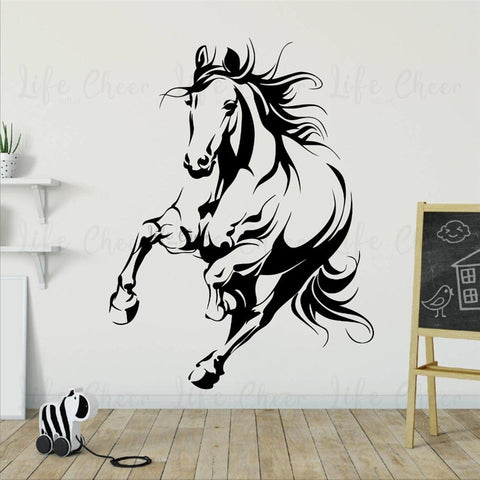 stickers muraux cheval au galop
