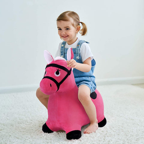 Peluche Poney Rose