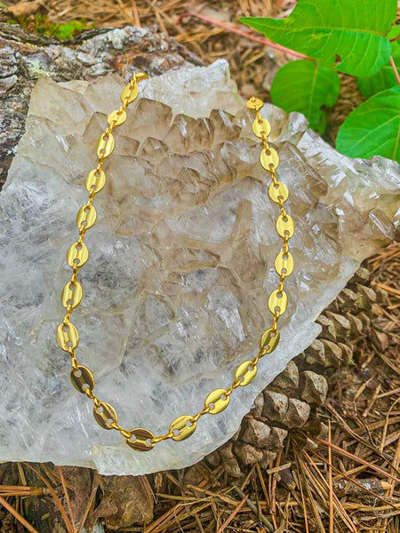 Oval link Gold Plated Choker