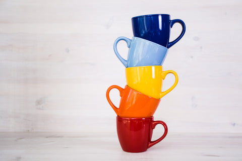 Littorary - Colorful Stacked Coffee Cups