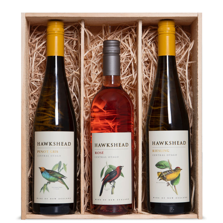 Hawkshead Wine Three Bottle Gift Box Bird Selection