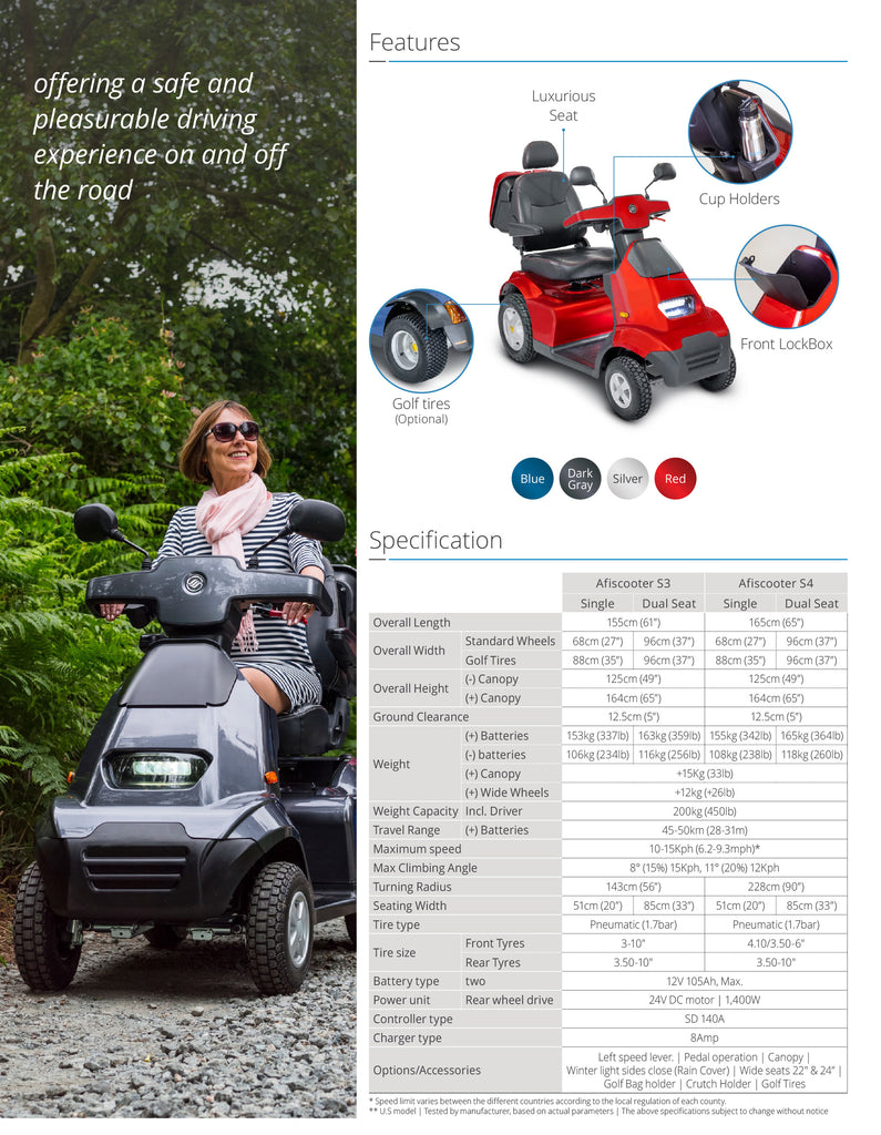 Afikim S3 Electric Scooter brochure page2