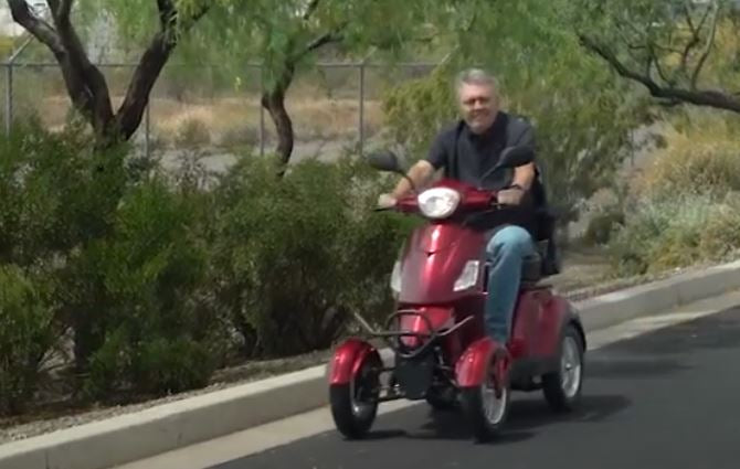 Click here for the Action video of the EW-46 Electric 4-Wheel Scooter