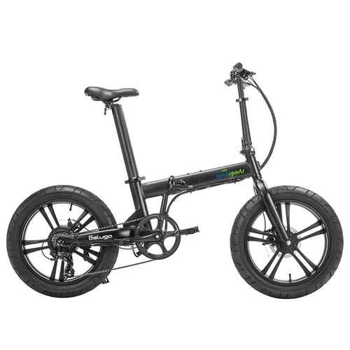 Qualisports Beluga Fat Tire Folding E-Bike with Hub Motor - 500W