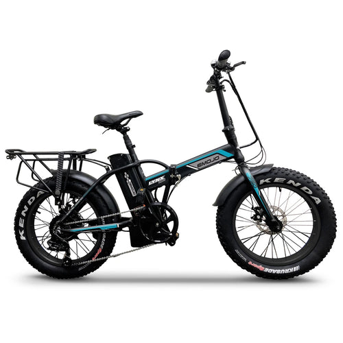 Emojo Lynx Pro 750 Fat Tire Folding Electric Mountain Bike - 750W - Electric Whispering