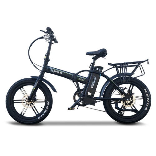 Emojo Lynx Pro Sport Fat Tire Folding Electric Mountain Bike - 500W - Electric Whispering
