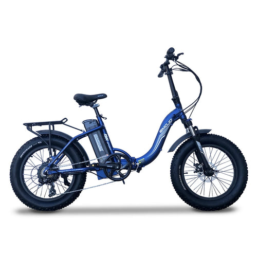 Emojo Ram Sport Fat Tire Folding Low Step Electric Bike - 750W - Electric Whispering